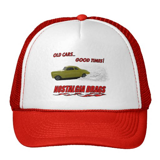 "Hat with ""Old Cars...Good Times!"" design"