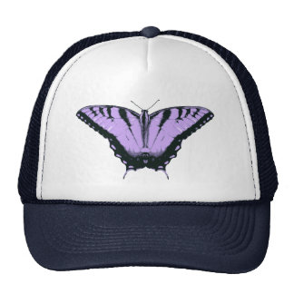 Hat with Purple Butterfly Illustration