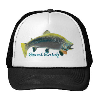 Hat with salmon for the fisherman