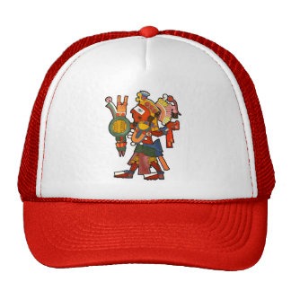 Hat with the Mayan indian warrior