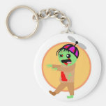 Hat Zombie Keychain