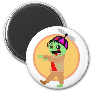 Hat Zombie 2 Inch Round Magnet