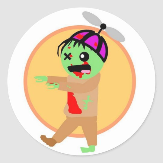Hat Zombie Stickers