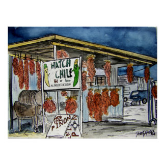 hatch chili new mexico art poster