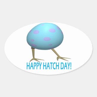 Hatch Day Oval Sticker