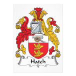 Hatch Family Crest Custom Announcement