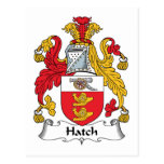 Hatch Family Crest Post Card