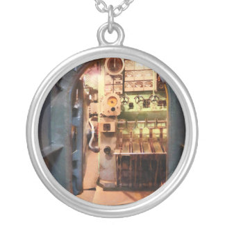 Hatch in Submarine Round Pendant Necklace