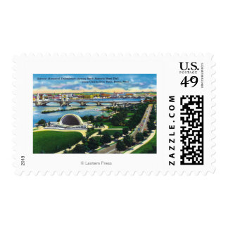 Hatch Memorial Band Shell, Charles River Stamp