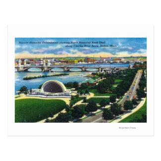 Hatch Memorial Band Shell, Charles River Postcard