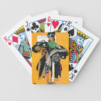 Hatcheck Girl Bicycle Poker Cards