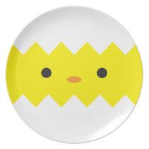 Hatched Chick Kids Melamine Plate