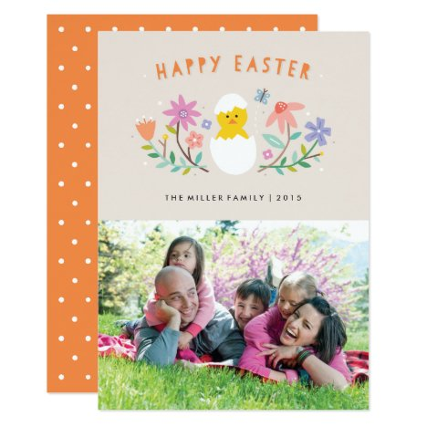 Hatched Easter Card - Beige