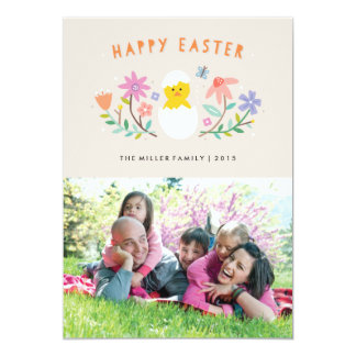 "Hatched Easter Card - Beige 5"" X 7"" Invitation Card"