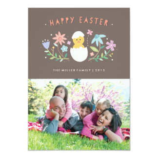 "Hatched Easter Card - Chocolate 5"" X 7"" Invitation Card"