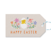 Hatched Easter Gift Tag - Beige