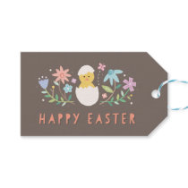 Hatched Easter Gift Tag - Chocolate