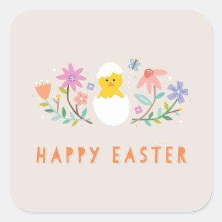 Hatched Easter Sticker - Beige