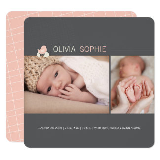 Hatched Egg Baby Chick Girl Birth Announcement