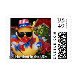 Hatched in the USA  (Small Horizontal) Postage Stamp