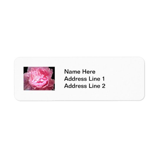Hatched Pink Peony Label