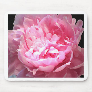 Hatched Pink Peony Mouse Pad