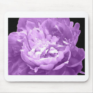 Hatched Purple Peony Mouse Pad