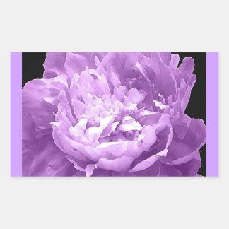 Hatched Purple Peony Rectangular Sticker