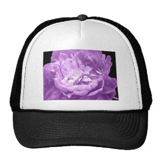 Hatched Purple Peony Trucker Hat