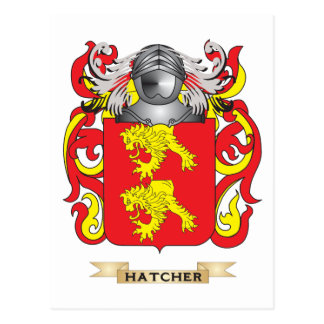 Hatcher Coat Of Arms Postcards & Postcard Template Designs ...