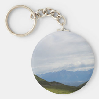 Hatchers Pass Mountain View Alaska Basic Round Button Keychain
