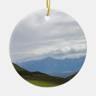 Hatchers Pass Mountain View Alaska Ceramic Ornament