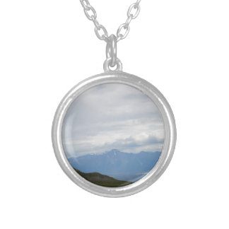 Hatchers Pass Mountain View Alaska Round Pendant Necklace