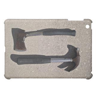 Hatchet and hammer in display iPad mini cases