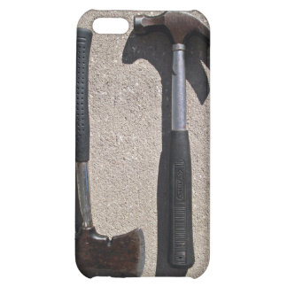 Hatchet and hammer in display iPhone 5C cover