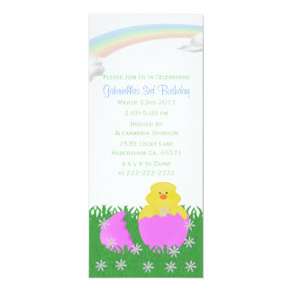Hatching Baby Chick Birthday Party Invitations