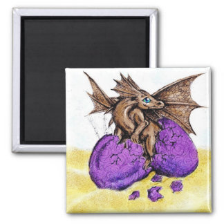 Hatching Brown Dragon Magnets