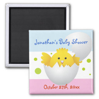 Hatching Chick Baby Shower Magnet