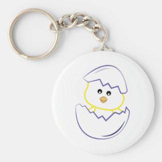 Hatching Chick Basic Round Button Keychain