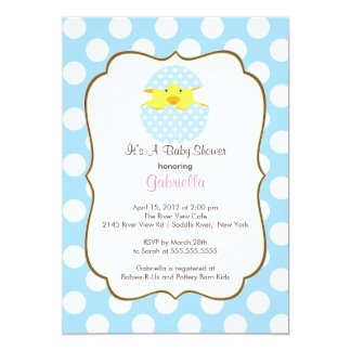 Hatching Chick Boy Baby Shower Invitation