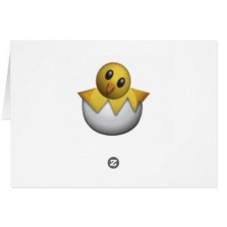Hatching Chick - Emoji Card