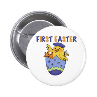 Hatching Chick First Easter T-shirts and Gifts Button