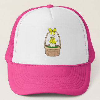 Hatching Chick in an Easter Basket Trucker Hat