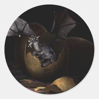 Hatching Dragons Classic Round Sticker