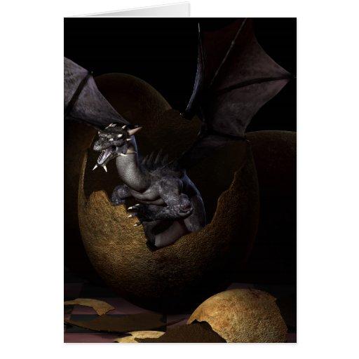 Hatching Dragons Greeting Card