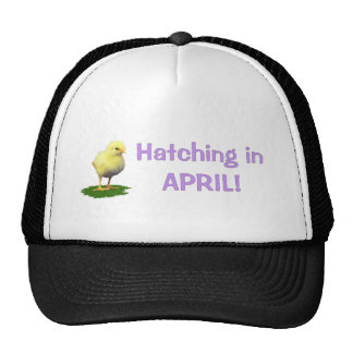 Hatching in April! Maternity/Pregnant Due In April Trucker Hat