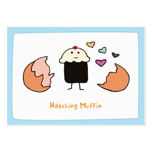 Hatching Muffin - Notecards Business Card