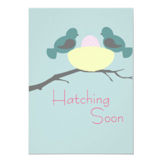 Hatching Soon - Baby Girl Card