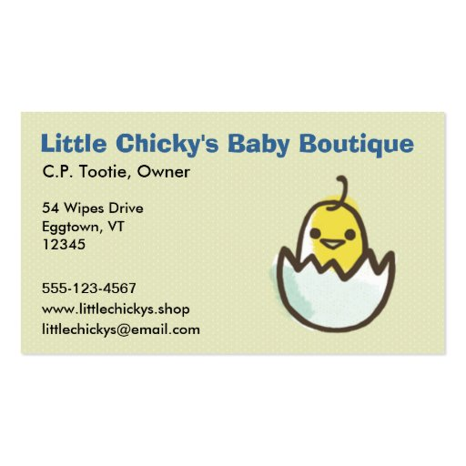 Hatching Yellow Chick Business Card