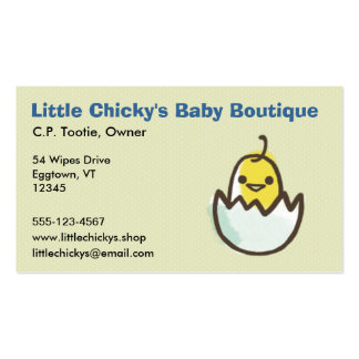 Hatching Yellow Chick Double-Sided Standard Business Cards (Pack Of 100)